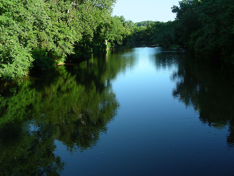 Brandywine Creek from Thompson's Bridge, August 2007