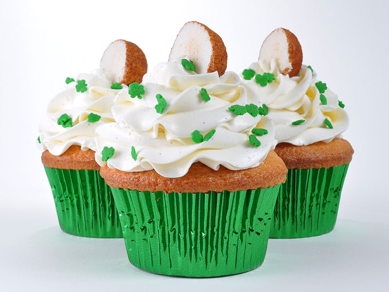Vanilla with Irish Cream pastry cream filling and <a href='http://www.ohryans.net/'>Irish Potatoes</a><br>March 15