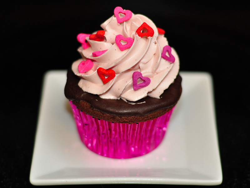 Chocolate with cherry filling &amp; frosting<br>February 13